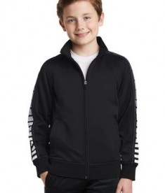 Sport-Tek Youth Dot Sublimation Tricot Track Jacket Style YST93