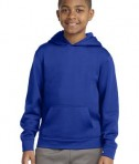 Sport-tek YST244 Youth Sport Wick Fleece Hooded Pullover True Royal