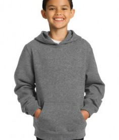 Sport-Tek YST254 Youth Pullover Hooded Sweatshirt Vintage Heather