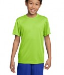 Sport-Tek YST350 Youth Competitor Tee Lime Shock