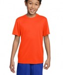 Sport-Tek YST350 Youth Competitor Tee Neon Orange