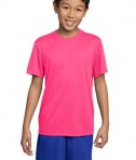 Sport-Tek YST350 Youth Competitor Tee Neon Pink