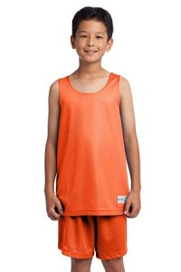Sport-Tek YST500 Youth PosichargeMesh Reversible Tank Deep Orange
