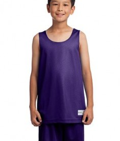 Sport-Tek YST500 Youth PosichargeMesh Reversible Tank Purple