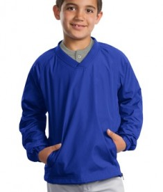 Sport-Tek Youth V-Neck Raglan Wind Shirt Style YST72