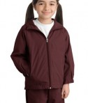 Sport-Tek YST73 Youth Hooded Raglan Jacket Maroon