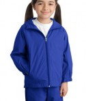 Sport-Tek YST73 Youth Hooded Raglan Jacket True Royal