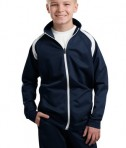 Sport-Tek YST90 Youth Tricot Track Jacket True Navy