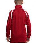 Sport-Tek YST90 Youth Tricot Track Jacket True Red Back