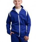 Sport-Tek YST90 Youth Tricot Track Jacket True Royal