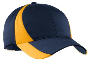 Sport-Tek STC11 Dry Zone Nylon Colorblock Cap True Navy/Gold