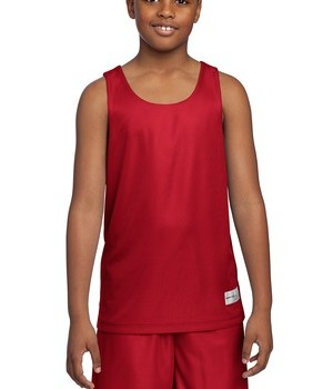Sport-Tek YT550 Youth Mesh Reversible Tank True Red
