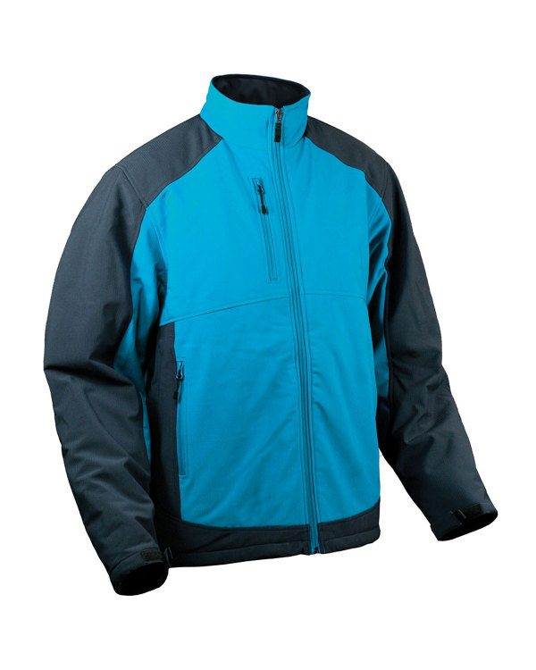 Storm Creek Men's Waterproof/Breathable Insulated Soft Shell Jacket Storm Blue/Tar