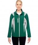 Team 365 Ladies' Icon Colorblock Soft Shell Jacket Sport Forest/Sport Silver