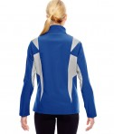 Team 365 Ladies' Icon Colorblock Soft Shell Jacket Sport True Royal/Sport Silver Back