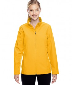 Team 365 Ladies' Leader Soft Shell Jacket Sport ATH Gold