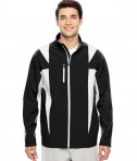 Team 365 Men's Icon Colorblock Soft Shell Jacket Black/Sport Silver