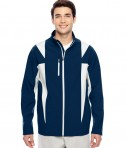 Team 365 Men's Icon Colorblock Soft Shell Jacket SP Dark Navy/SP Silver