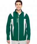 Team 365 Men's Icon Colorblock Soft Shell Jacket SP Forest/SP Silver