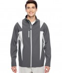 Team 365 Men's Icon Colorblock Soft Shell Jacket SP Graphite/SP Silver