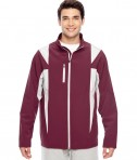 Team 365 Men's Icon Colorblock Soft Shell Jacket SP Maroon/SP Silver