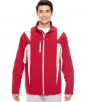 Team 365 Men's Icon Colorblock Soft Shell Jacket SP Red/SP Silver