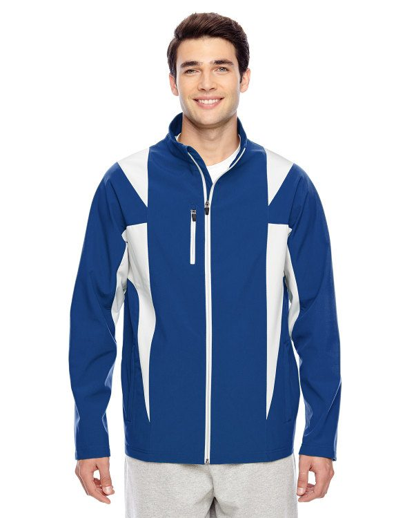 Team 365 Men's Icon Colorblock Soft Shell Jacket SP Royal/SP Silver