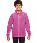 Team 365 Youth Campus Microfleece Jacket Sport CHRTY Pink