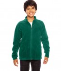 Team 365 Youth Campus Microfleece Jacket Sport Forest